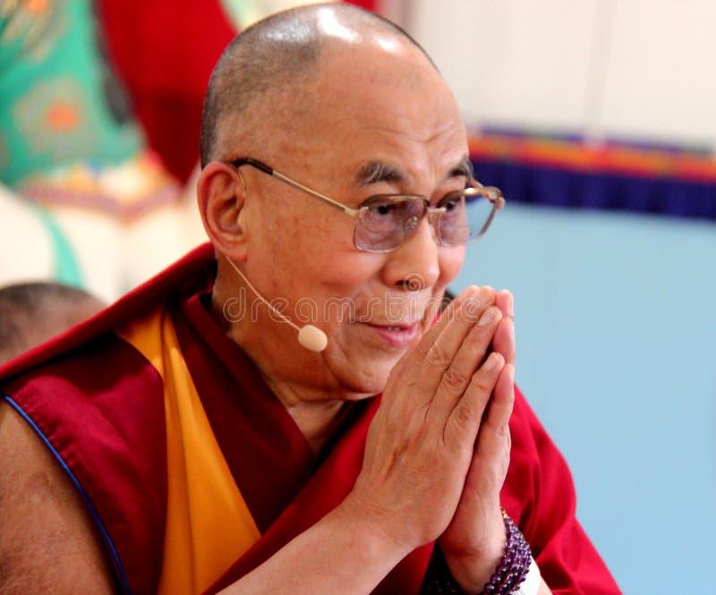 Zijn Heiligheid XIV Dalai Lama Tenzin Gyatso stock afbeelding