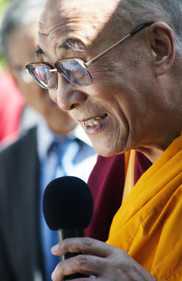Zijn Holliness Dalai Lama stock foto