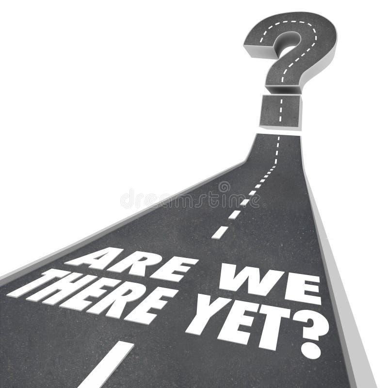 Zijn wij vragen daar nog Mark Road Words Waiting Impatient vector illustratie