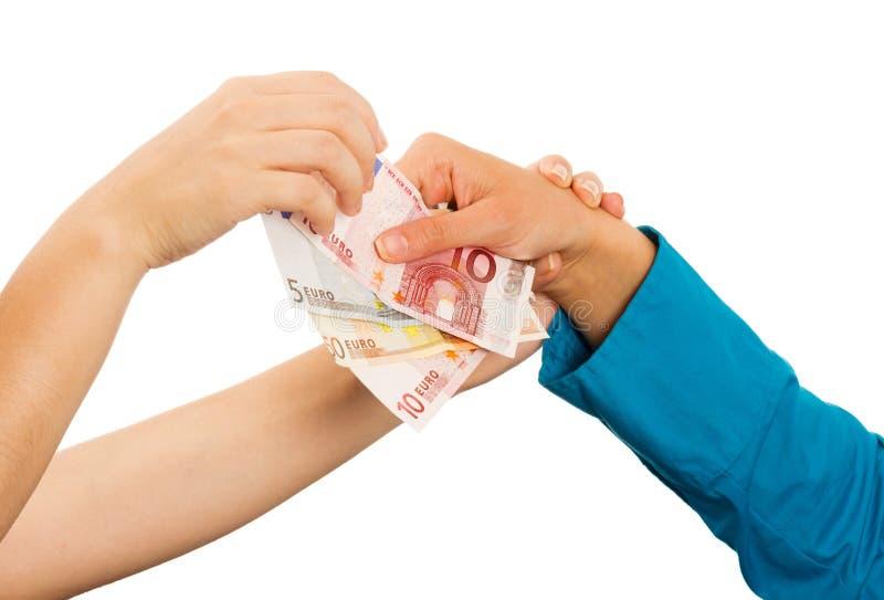 Zijnd Kort van Geld royalty-vrije stock foto