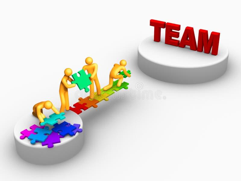 Zijnd Team vector illustratie