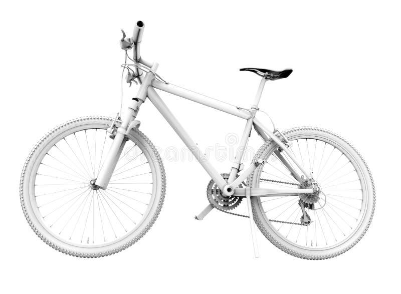 Zijperspectiefmening van een fiets stock illustratie