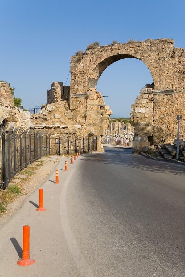 Zijruïnes van de oude stad royalty-vrije stock fotografie