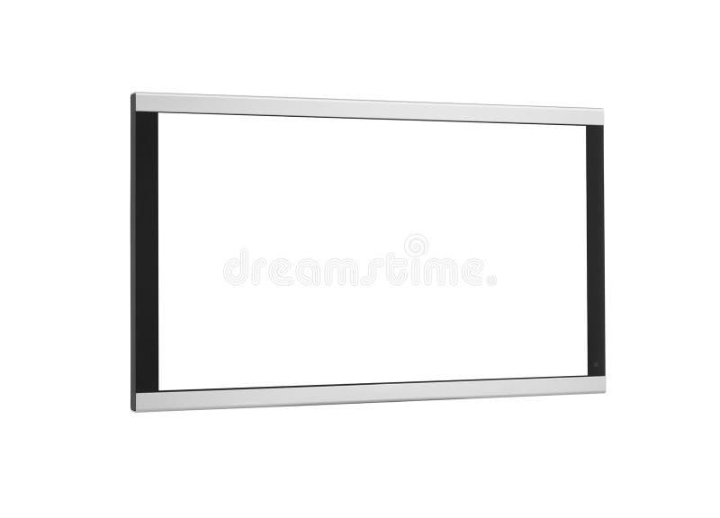 Zijschot van geïsoleerde het scherm van plasmatv stock foto's