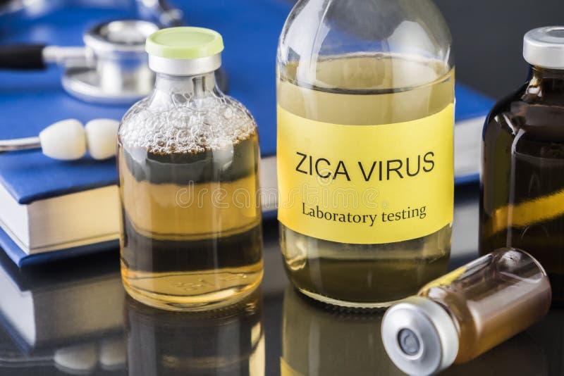 ZIKA测试研究的测试  图库摄影