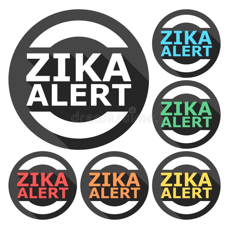 Zika病毒戒备,象设置了与长的阴影 皇族释放例证