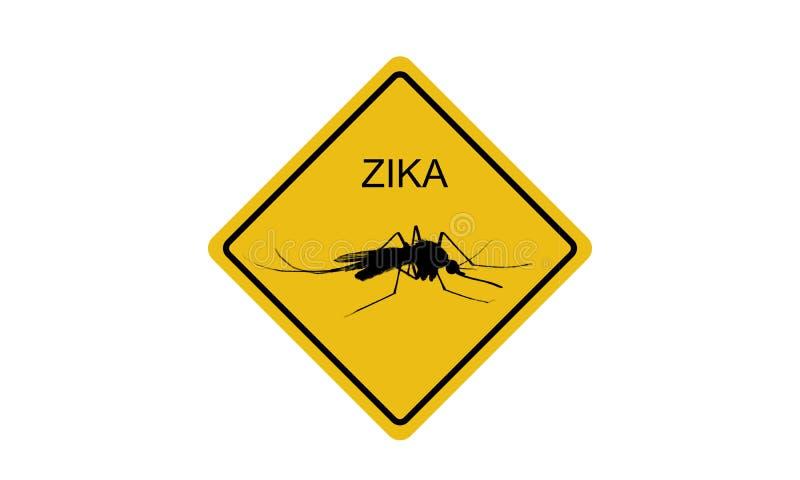Zika病毒标志 库存图片