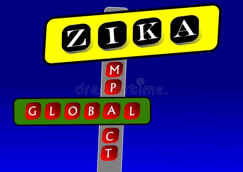 Zika病毒 库存例证