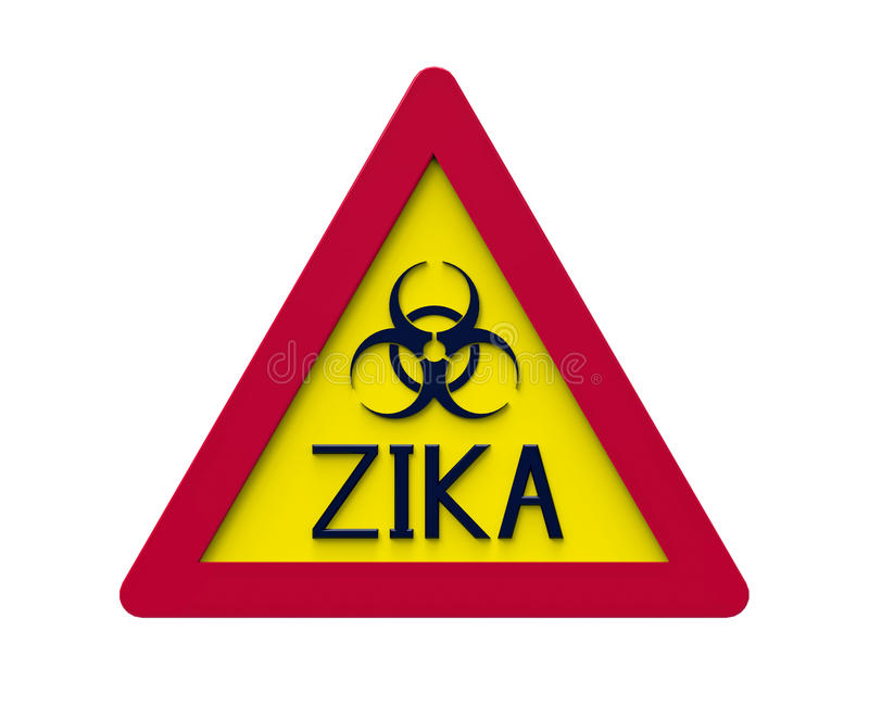 Zika biohazardtecken, tolkning 3d stock illustrationer