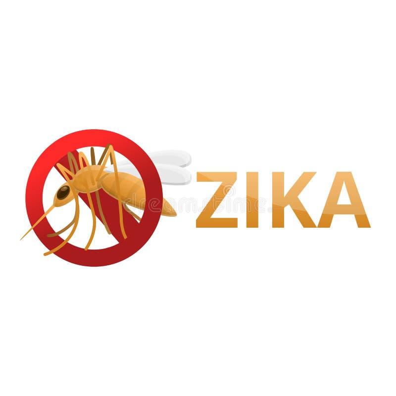 Zika ikona, kreskówka styl ilustracji