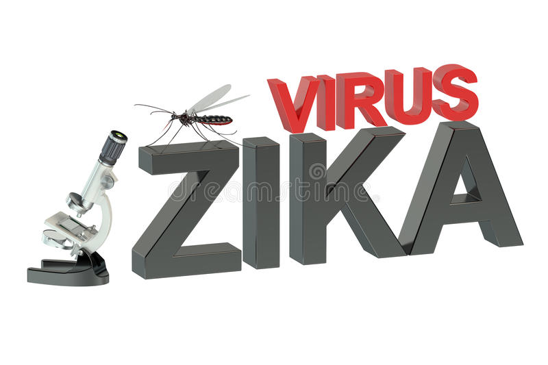 Zika virus. Concept isolated on green background vector illustration