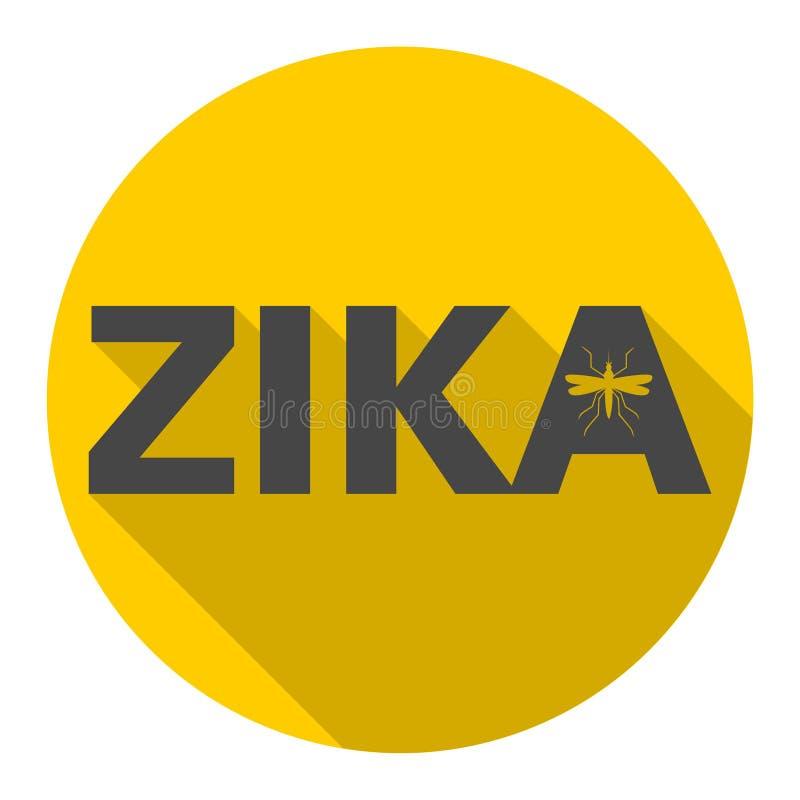 Zika-Virusalarm, Ikone mit langem Schatten lizenzfreie abbildung