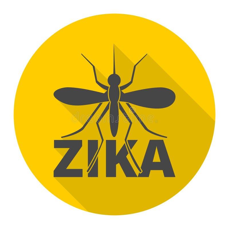 Zika-Virusikone mit langem Schatten stock abbildung