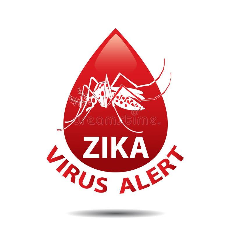 Zika virussymbol mygga Behandla som ett barn zikavirussymbolen Vaket begrepp för utbrott royaltyfri illustrationer