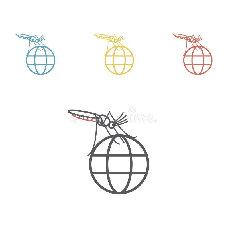 Zika wirusa linii ikona również zwrócić corel ilustracji wektora royalty ilustracja