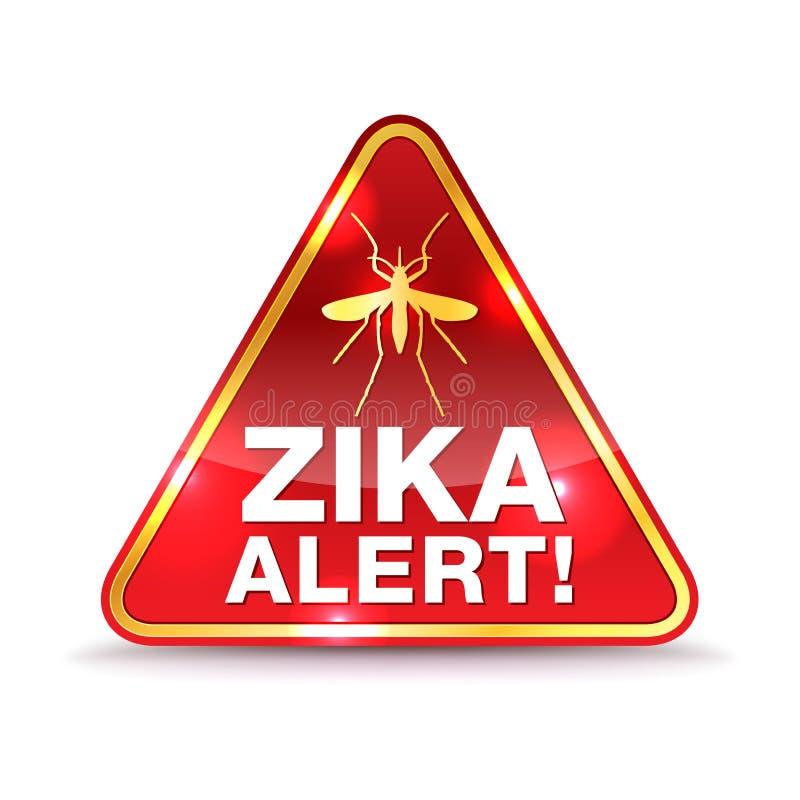 Zika wirusa ostrzeżenia ikony ilustracja ilustracji