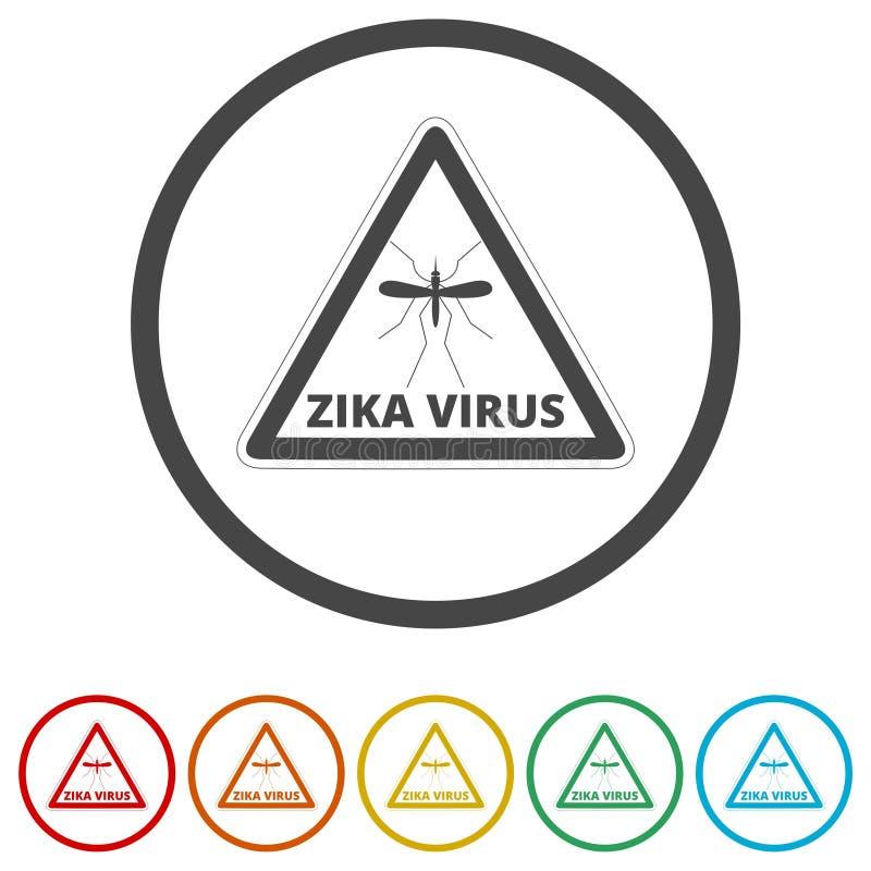 Zika wirusa ostrzeżenie, 6 kolorów Zawierać royalty ilustracja