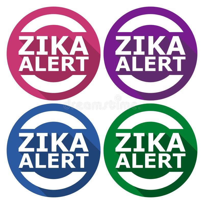 Zika wirusa ostrzeżenie, 4 koloru Zawierać ilustracja wektor
