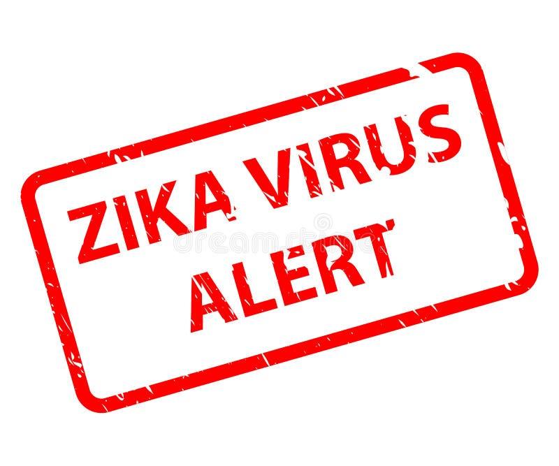 Zika Wirusowa raźna wiadomość w czerwonym kształcie EPS10 Wektorowy ilustracyjny ostrzeżenie ilustracji