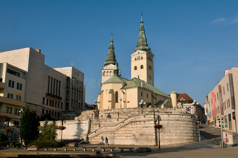 Zilina - cathédrale de trinité image libre de droits