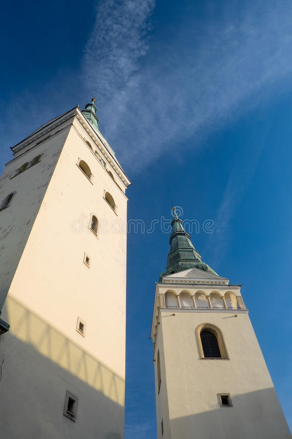 Free Zilina, Slovak Republic,Church Of The Holy Trinity Two Towers Royalty Free Stock Photography - 61892037