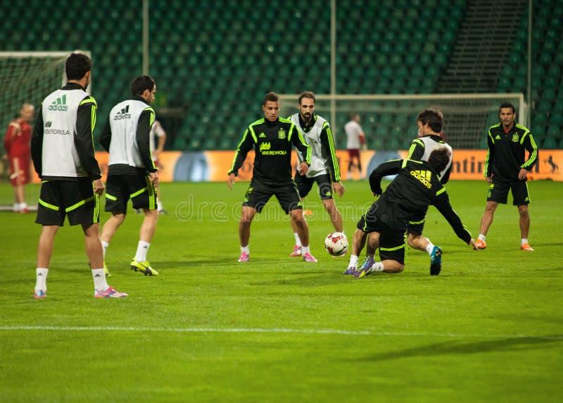 ZILINA, SLOWAKEI - 8. OKTOBER 2014: Spanien-Nationalmannschaftsspieler lizenzfreie stockbilder