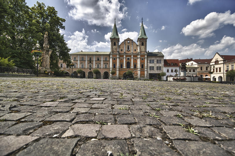 Zilina Stadt-Hauptquadrat stockfotos