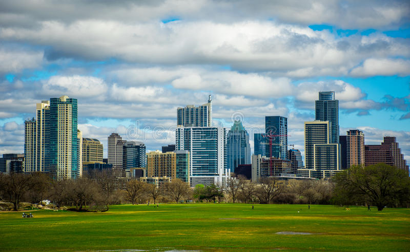 Download Zilker Park Austin Texas Dramatic Patchy Clouds Early Spring 2016 Skyline View Stock Photo - Image: 67183772