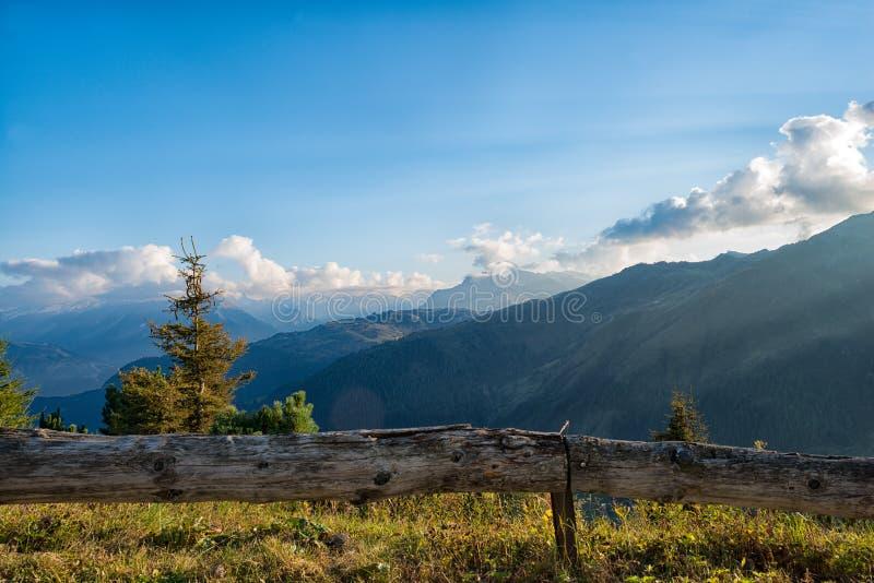 Zillertal在阿尔卑斯在蒂罗尔,奥地利 免版税图库摄影