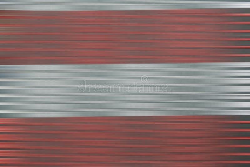 Zilver en rood in motieonduidelijk beeld royalty-vrije stock fotografie