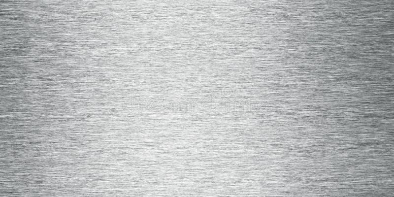Zilver Geborstelde Metaalbanner Als achtergrond stock afbeelding