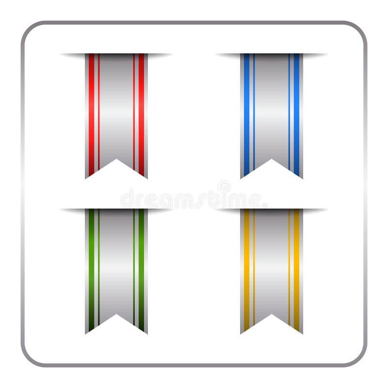 Zilver gekleurde referentiereeks vector illustratie