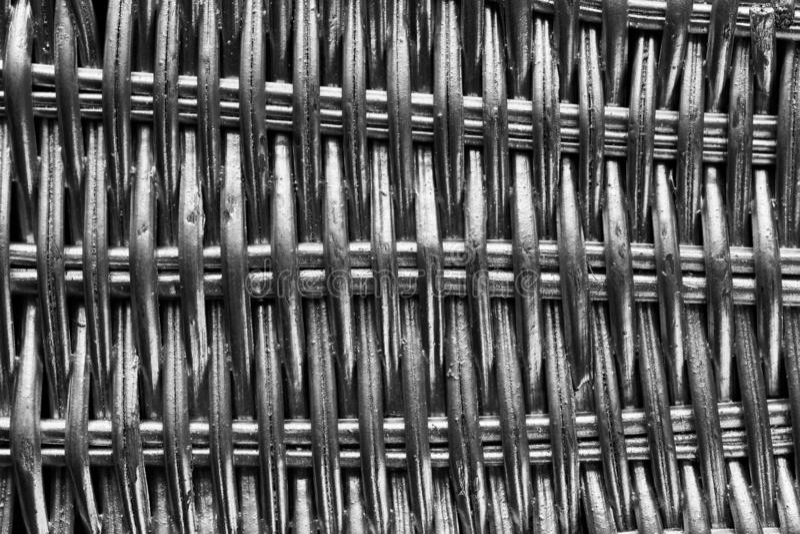 Zilver geschilderd rieten patroon stock afbeeldingen