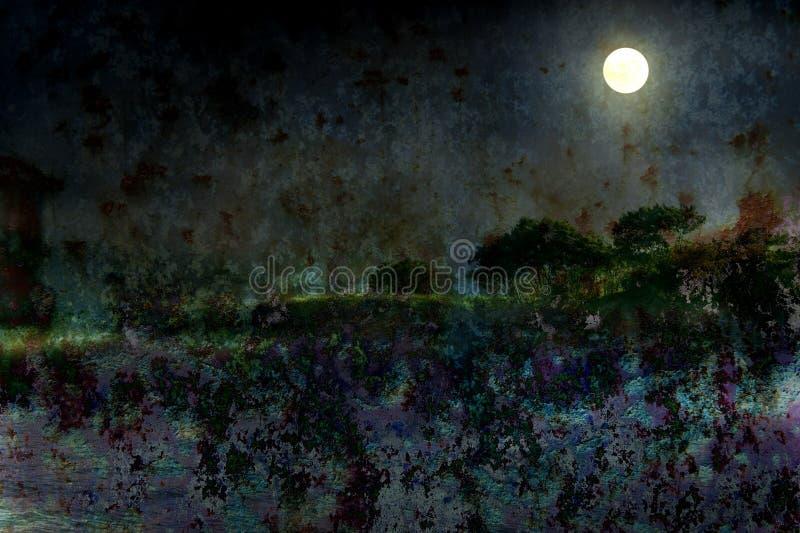 Zilverachtige maan royalty-vrije stock fotografie