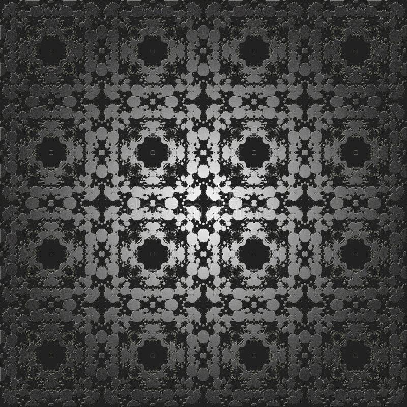 Zilveren abstracte dalingen van kleur. stock illustratie