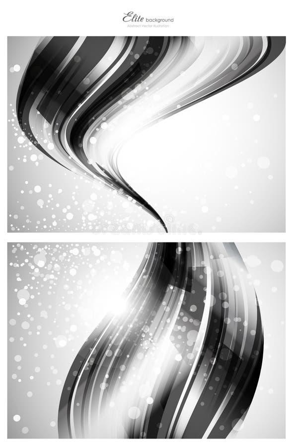 Zilveren abstracte malplaatjes als achtergrond royalty-vrije illustratie