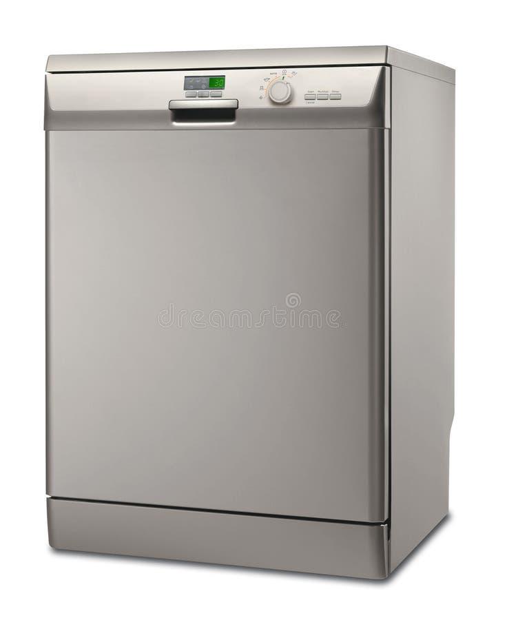 Zilveren afwasmachine royalty-vrije illustratie