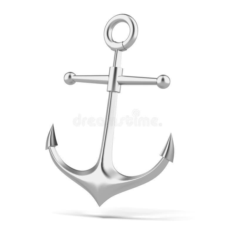Zilveren anker vector illustratie