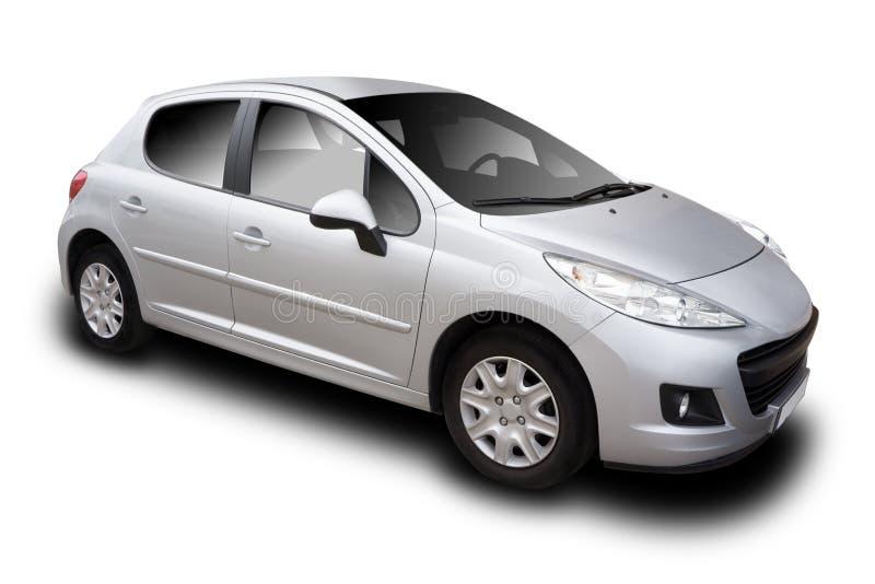 Zilveren auto royalty-vrije stock fotografie