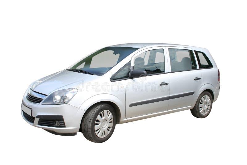 Zilveren auto royalty-vrije stock afbeeldingen