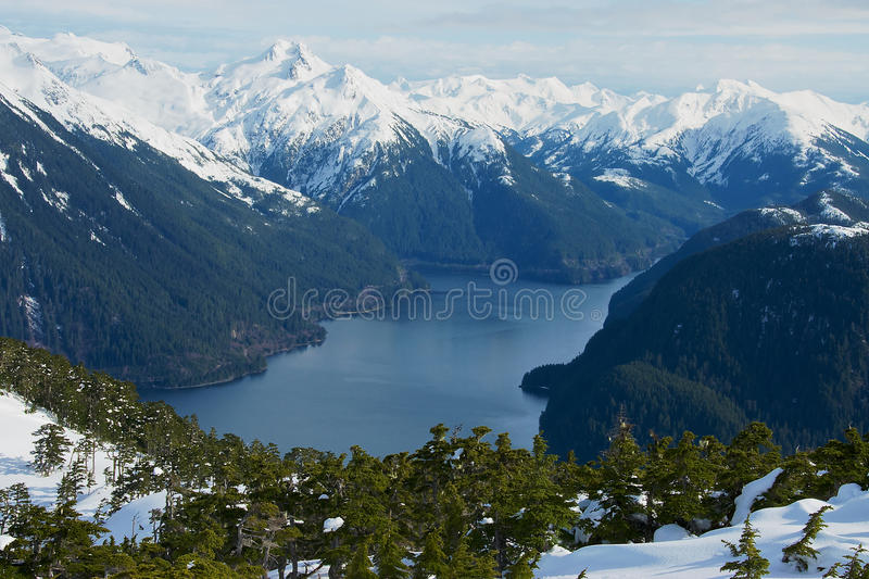 Zilveren Baai in Sitka, Alaska royalty-vrije stock afbeelding