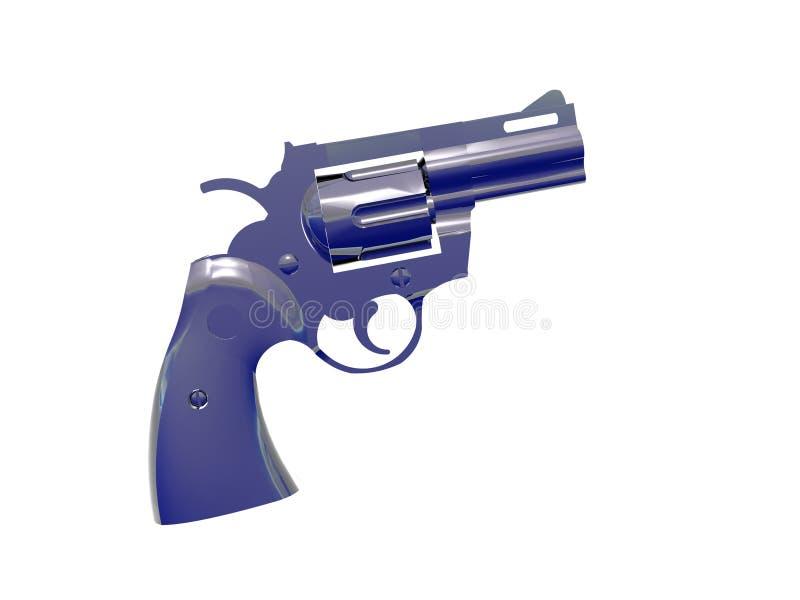 Download Zilveren Blauw Pistool stock illustratie. Illustratie bestaande uit kogels - 292680
