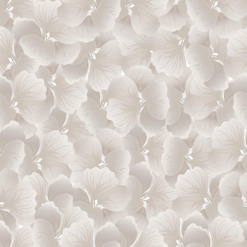 Zilveren bloemdruk Uitstekend bloemenpatroon Trendy naadloze achtergrond De textuur van de manier Zwart-wit behang Vector stock illustratie