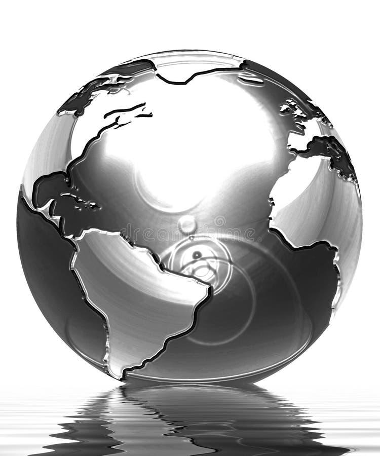 Zilveren bol stock illustratie