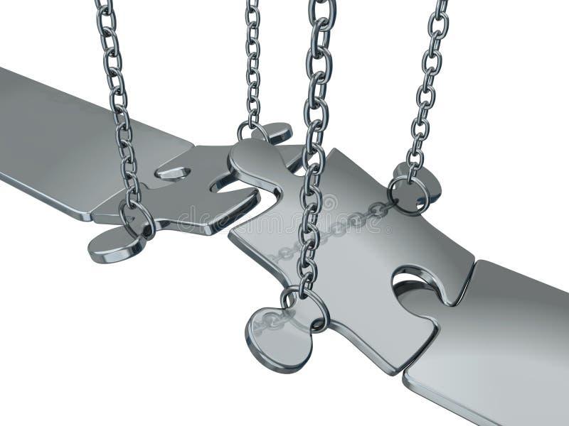 Zilveren brug stock illustratie