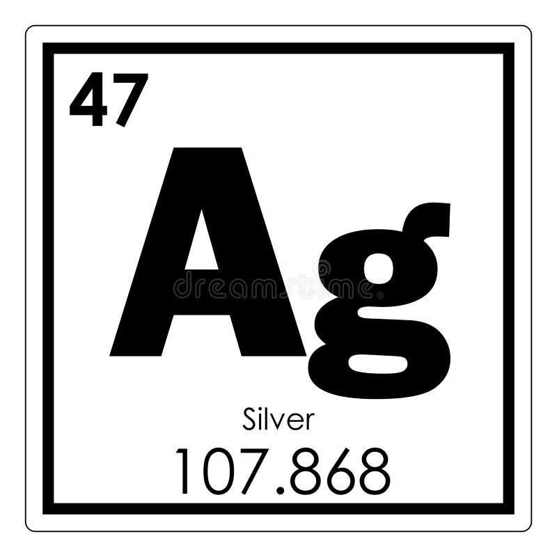 Zilveren chemisch element royalty-vrije illustratie