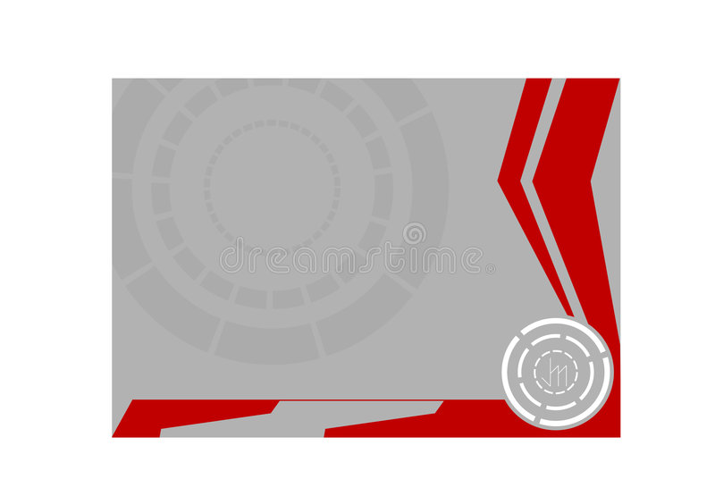 Zilveren cirkel stock afbeelding
