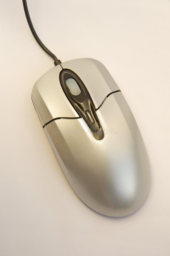 Zilveren computermuis. royalty-vrije stock fotografie