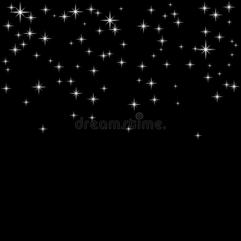 Zilveren confettienachtergrond stock illustratie
