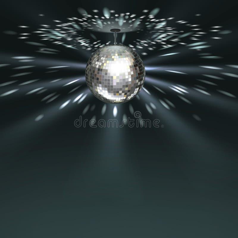 Zilveren discobal vector illustratie